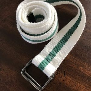 Other - White & Green Canvas Belt